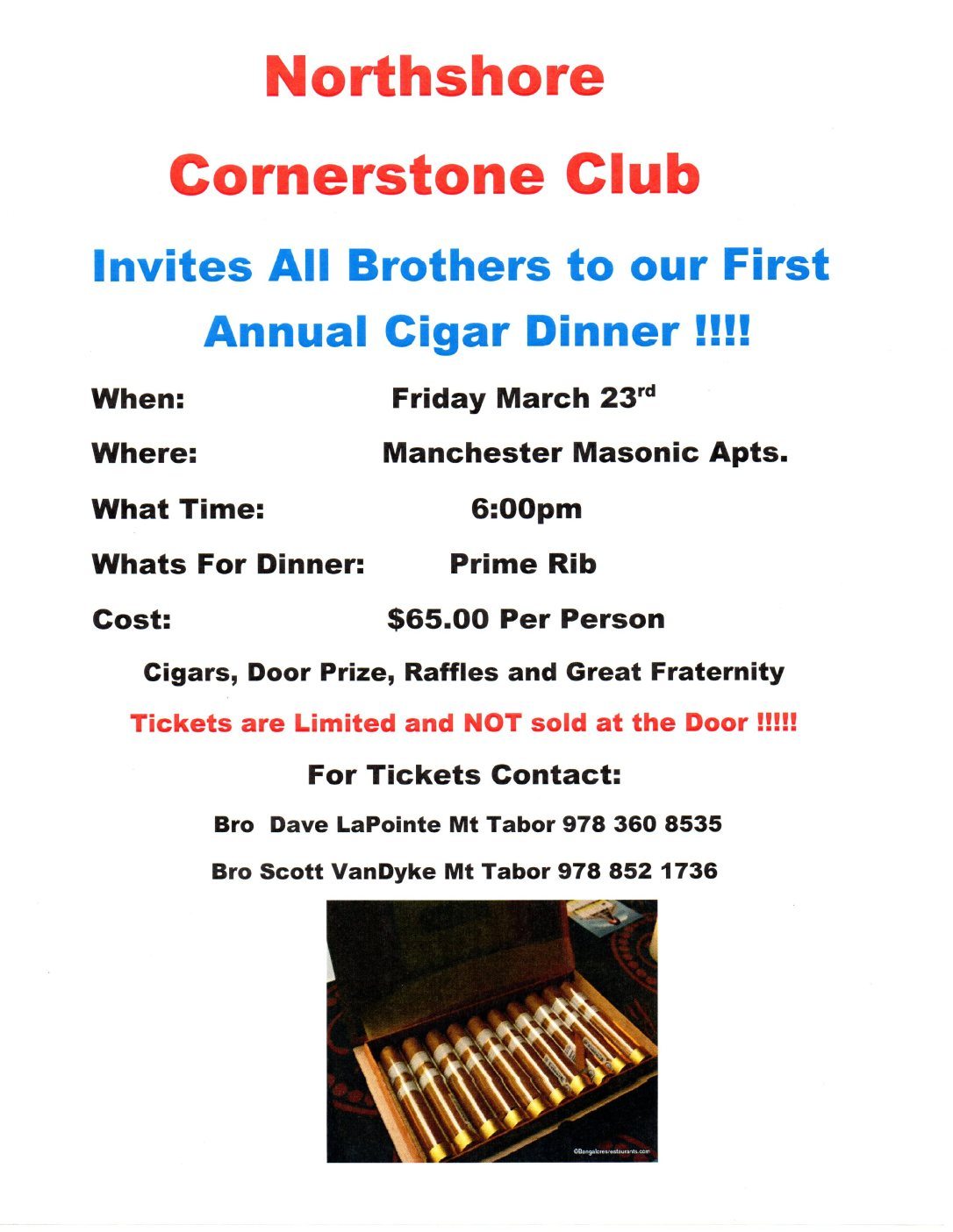 Annual Cigar Dinner_Corner Stone_23MAR2018