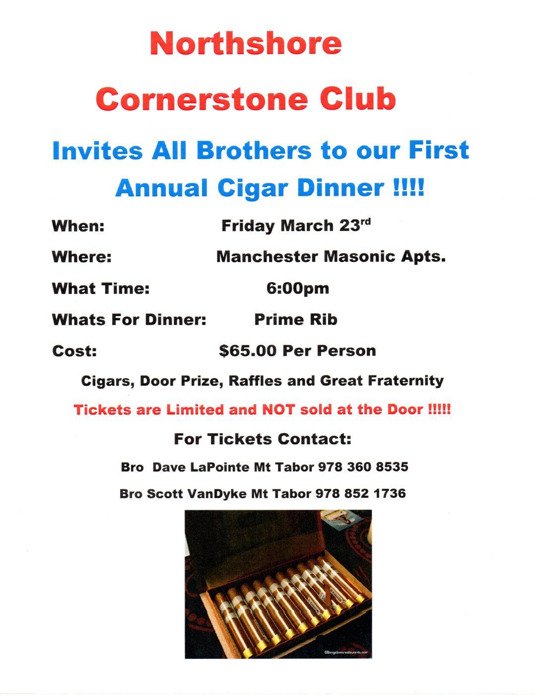 Annual Cigar Dinner_Corner Stone_23MAR2018
